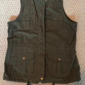 Old Navy Green Army Vest sz M